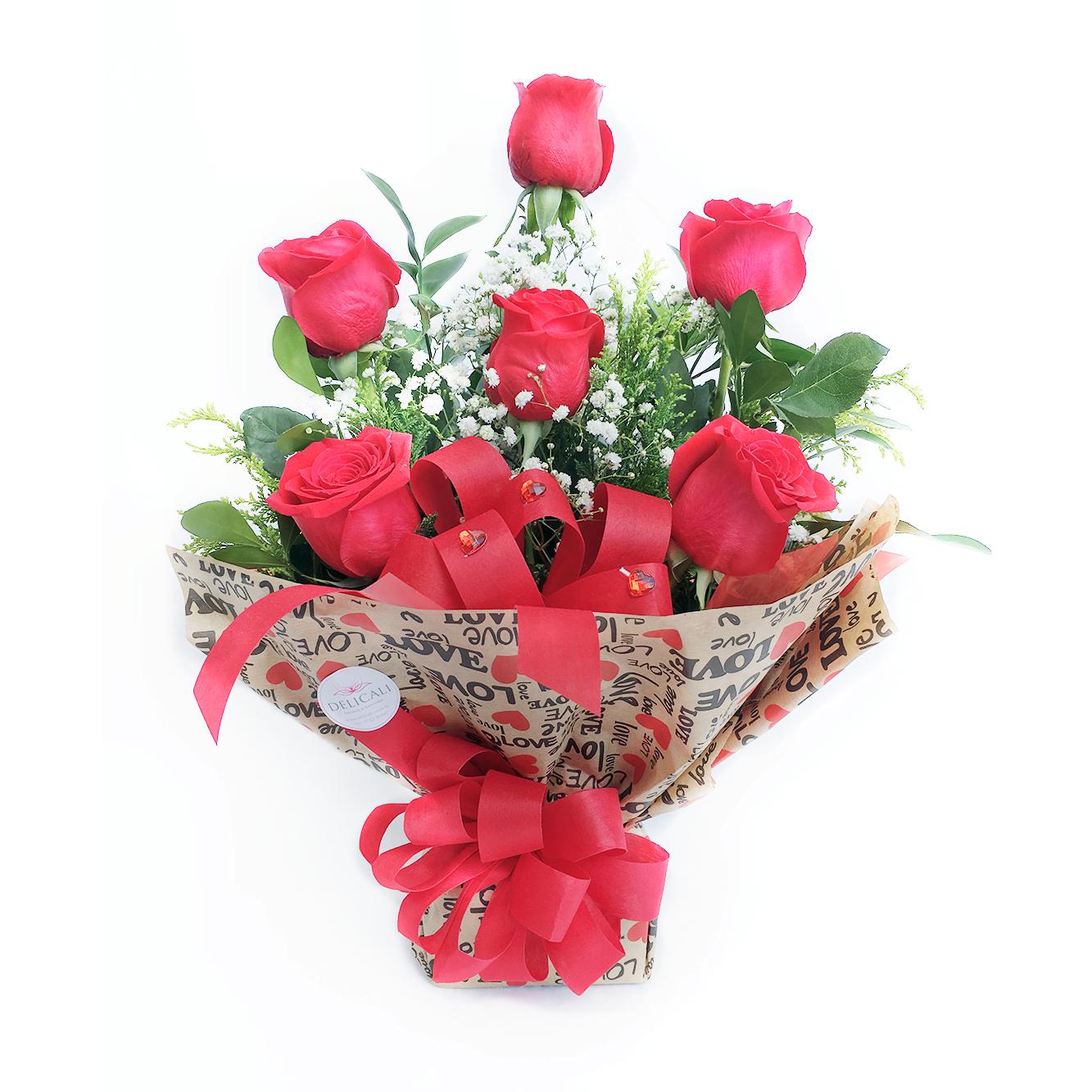 Arranjo com 6 Rosas